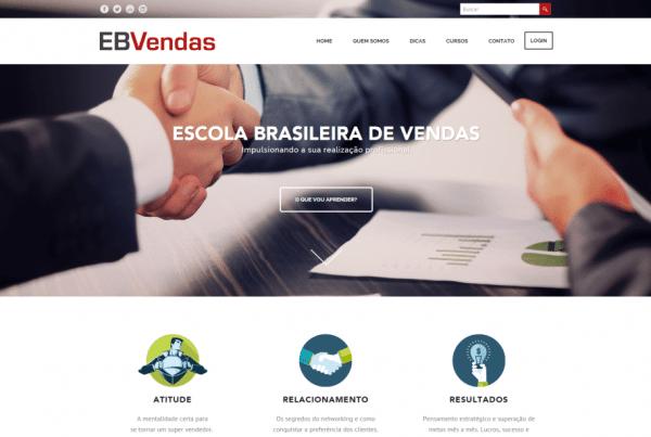 Desenvolvimento Site Escola Brasileira de vendas