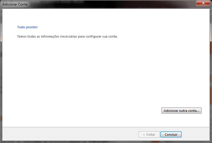 Configuração do Outlook 2013 » Agência House
